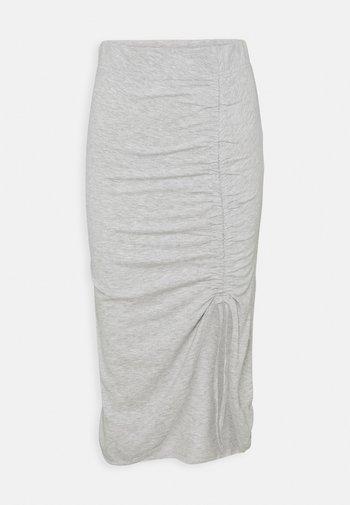 PCNEORA STRING  SKIRT   - Pennkjol - light grey melange