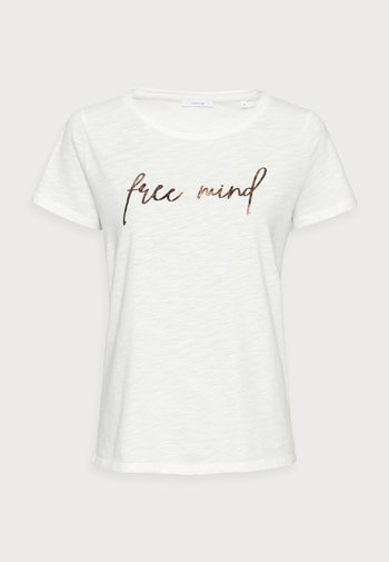 SOI MIND - Print T-shirt - milk