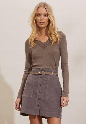 NINA - Long sleeved top - steel grey