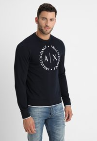 Armani Exchange - Sweatshirts - navy - 0