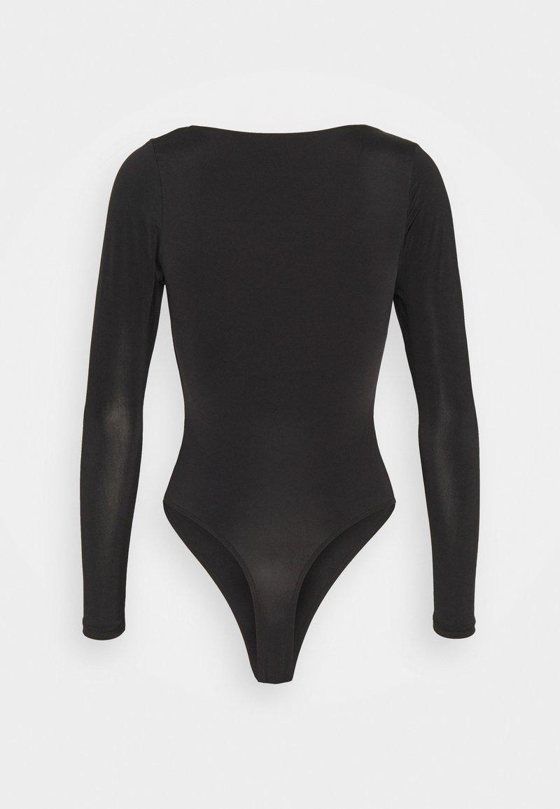 Missguided Petite SEAM FREE SQUARE NECK - T-Shirt basic - black/schwarz f3EvxC