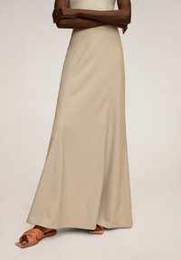 Mango - TINTO-A - Maxi skirt - beige - 0
