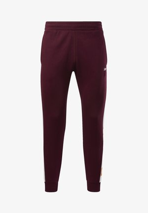 TRAINING ESSENTIALS LINEAR LOGO JOGGERS - Pantalon de survêtement - burgundy