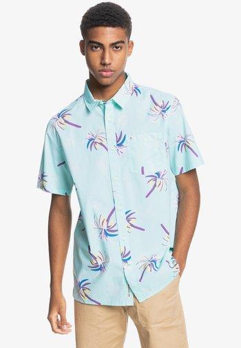 Shirt - blue tint royal palms