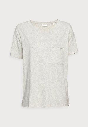T-shirt med print - offwhite mélange