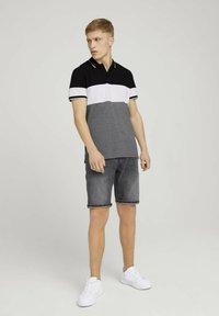 TOM TAILOR DENIM - Polo shirt - black - 1
