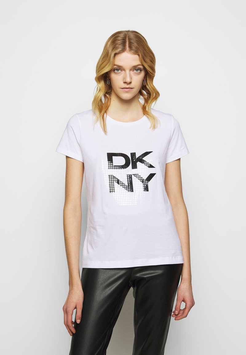 DKNY - Triko spotiskem - white