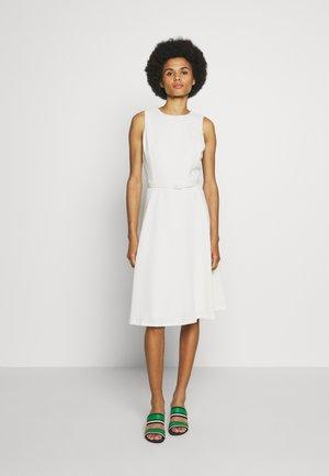 WOODSTCK FOIL DRESS - Day dress - matte ivory