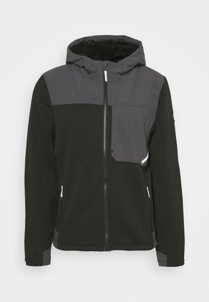 ALPS FULL ZIP HOODIE - Kurtka z polaru - black