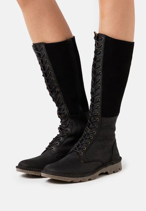 FOREST - Snørestøvler - black