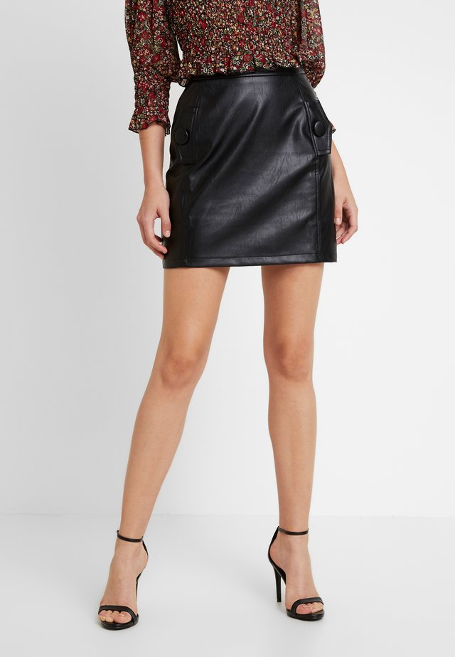 SPOON SKIRT - Gonna a campana - black