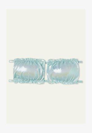 MIT RAFFUNG GLOSSY - Bikini top - azzurro acqua