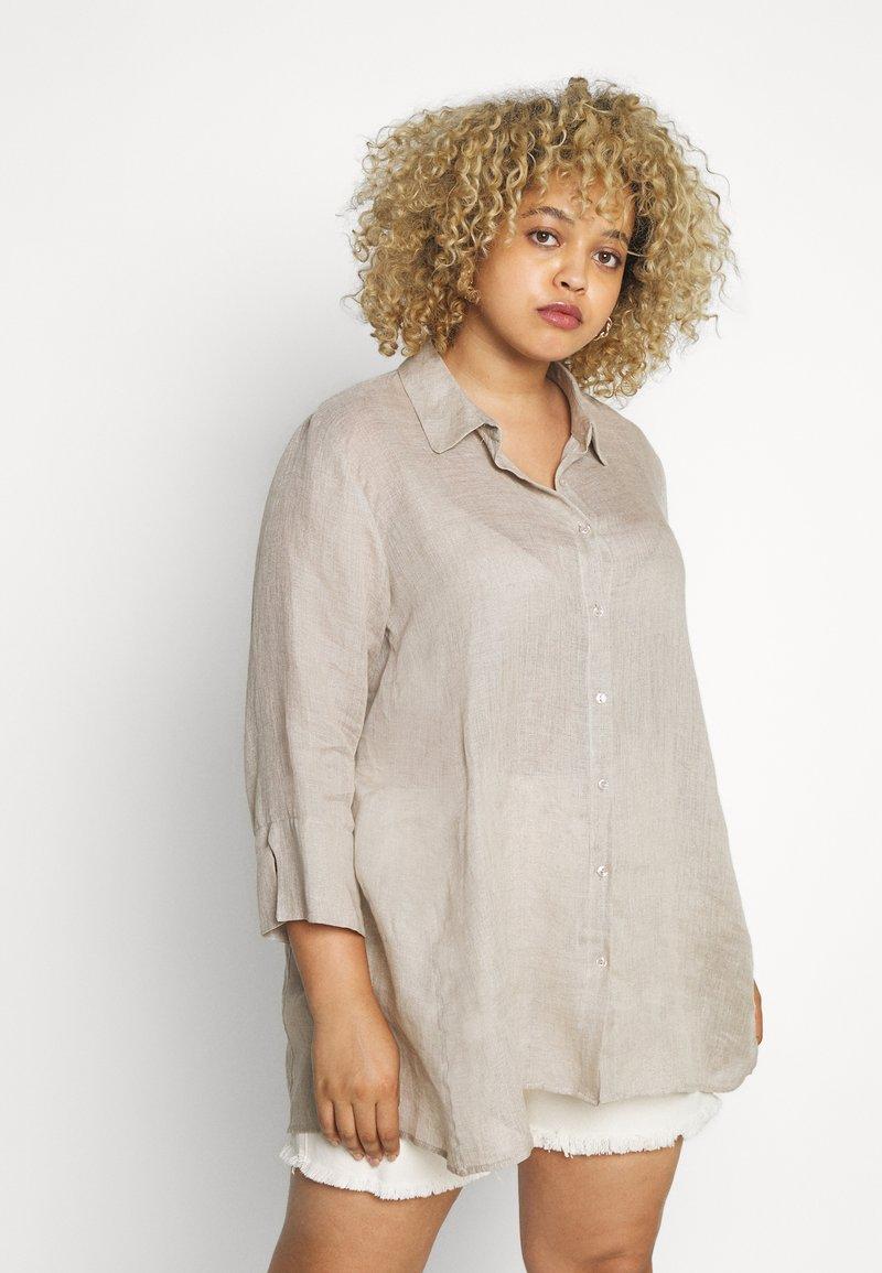 Persona by Marina Rinaldi - FISICA - Button-down blouse - beige freddo