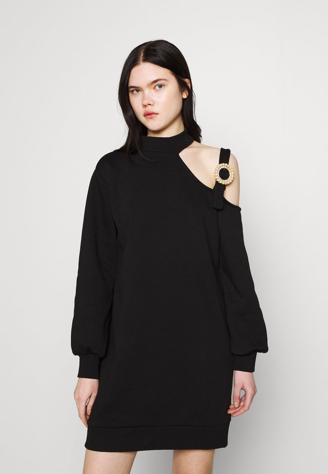 CUT OUT DRESS - Korte jurk - black