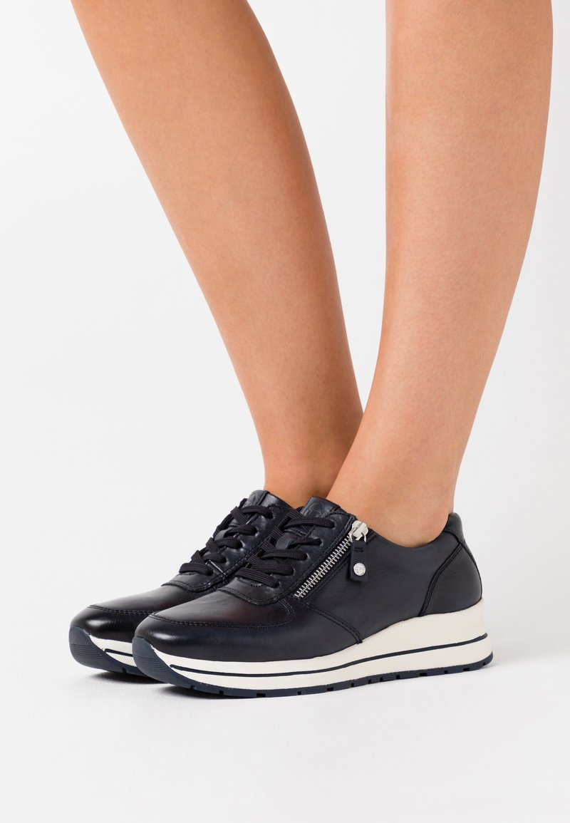 Tamaris Pure Relax - LACE UP - Trainers - navy