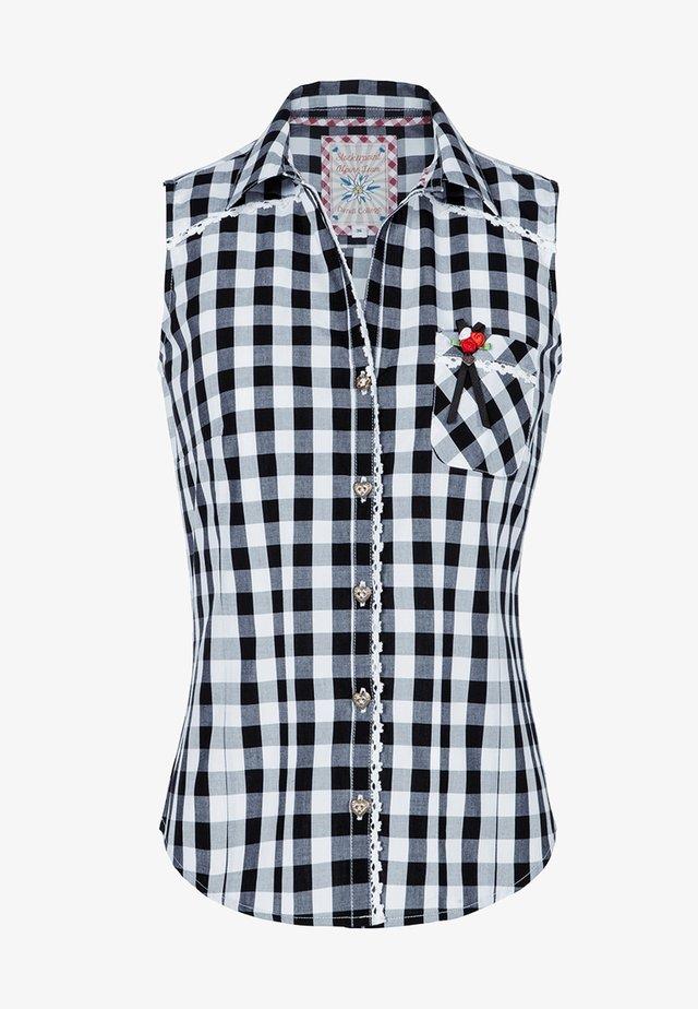 DALIA - Button-down blouse - schwarz