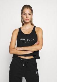 Pink Soda - TERRA CROP TANK - Top - black - 0