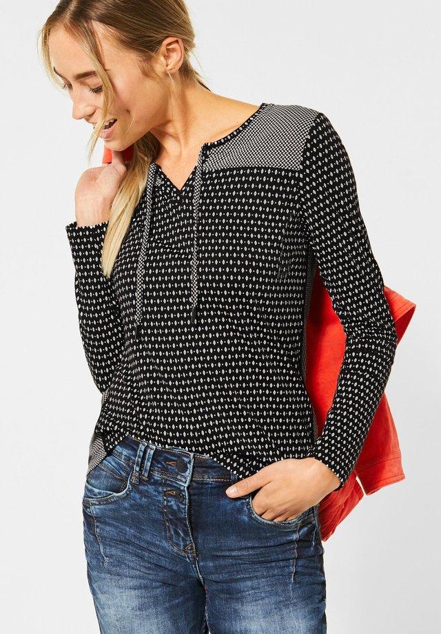 IM TUNIKA-STYLE - Long sleeved top - schwarz