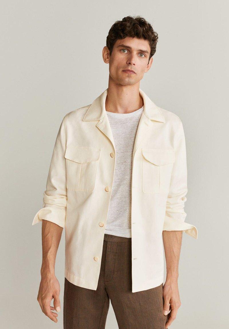 Mango - VICTORIA - Summer jacket - ecru