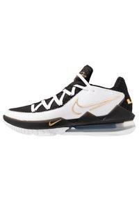 Nike Performance - LEBRON XVII LOW - Basketball shoes - white/metallic gold/black - 0