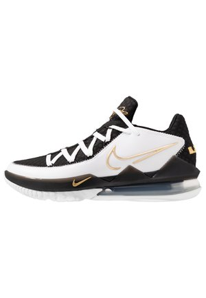LEBRON XVII LOW - Basketball shoes - white/metallic gold/black