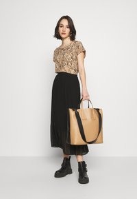 New Look - PLEATED - A-Linien-Rock - black - 1