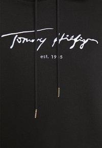 Tommy Hilfiger - SCRIPT HOODIE DRESS - Day dress - black - 5