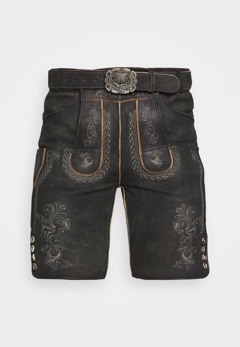 Stockerpoint - THOMAS - Kožené kalhoty - graphit vintage