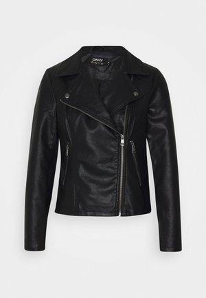 ONLMELISA BIKER - Faux leather jacket - black
