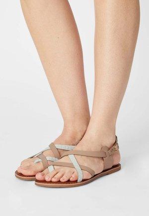 JAMIE GLADIATOR - T-bar sandals - white