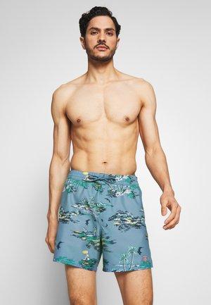TROPICAL - Swimming shorts - blue/yellow