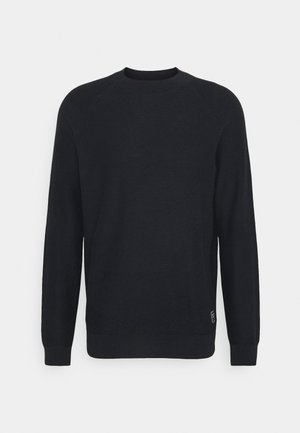 CLASSIC HIGH NECK PULL - Stickad tröja - midnight