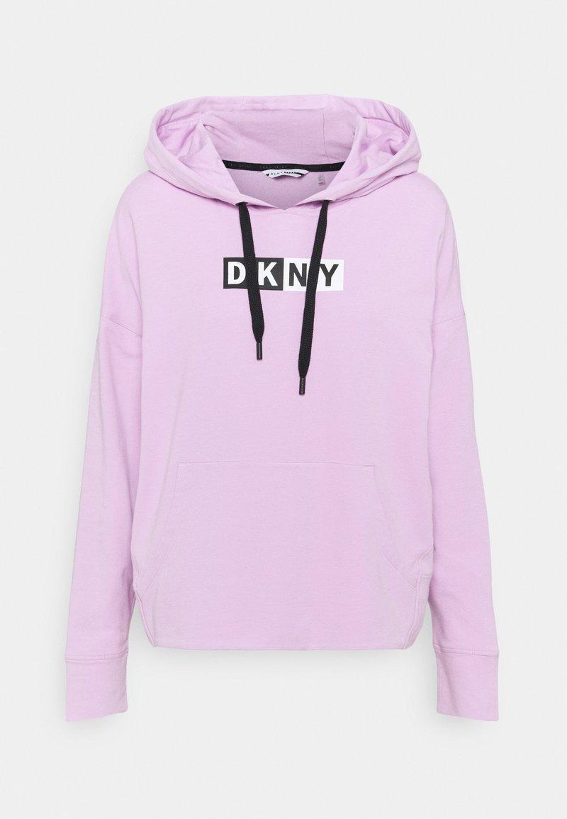 DKNY - TWO TONE LOGO HOODIE - Sweatshirt - lilac