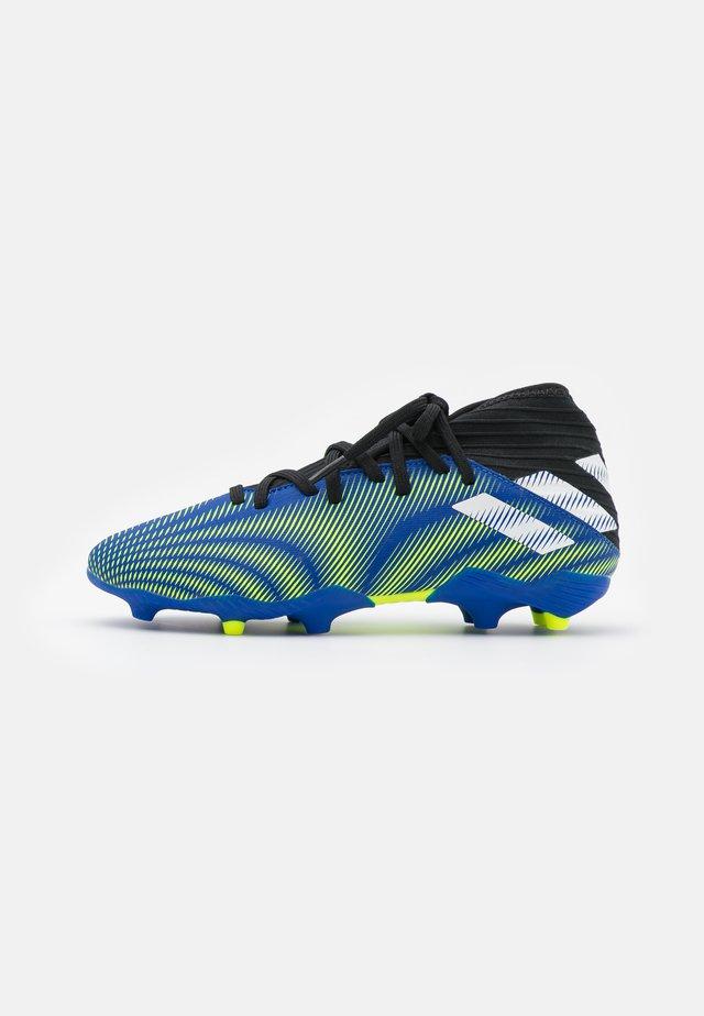 NEMEZIZ .3 FG UNISEX - Moulded stud football boots - royal blue/footwear white /solar yellow