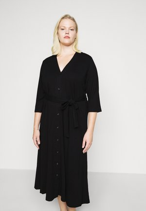 SLFINNIE 3/4 MIDI DRESS - Jersey dress - black