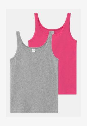 TEENS BEST FRIENDS 2 PACK - Undershirt - grey/pink