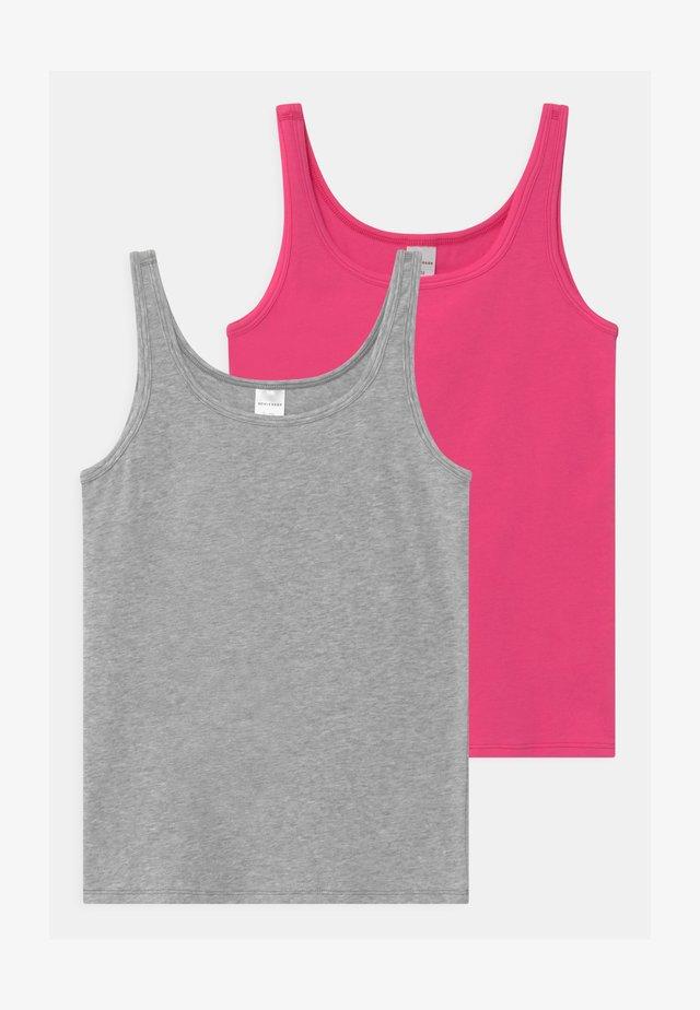 TEENS BEST FRIENDS 2 PACK - Unterhemd/-shirt - grey/pink