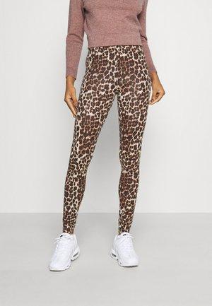 ONLBELLA LIVE LOVE - Leggings - Trousers - black/natural