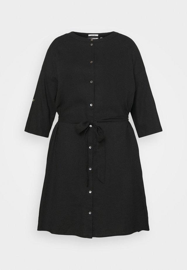 DRESS STYLE WITH BELT - Korte jurk - deep black