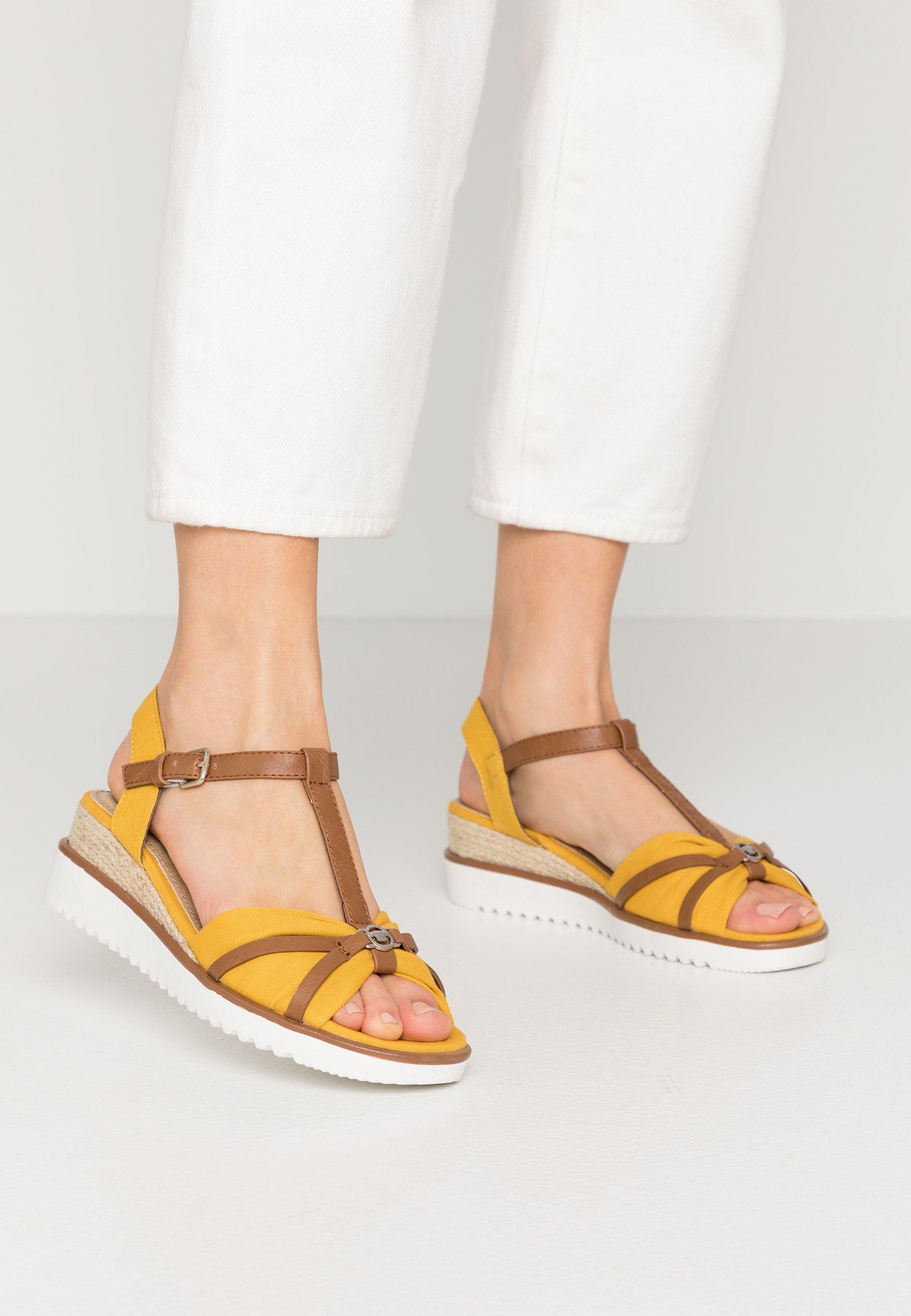 TOM TAILOR Sandales compensées - yellow - Sandales & Nu-pieds femme Limité