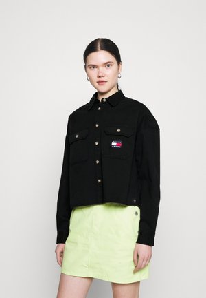 CROPPED UTILITY - Button-down blouse - black
