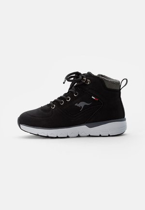 FONDO - Lace-up ankle boots - jet black/steel grey