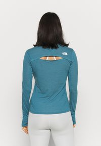 The North Face - W ACTIVE TRAIL WOOL L/S - Funktionsshirt - mallardblueheather - 2