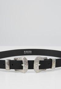 Pieces - PCLARAH WAIST BELT - Tailleriem - black/silver-coloured - 4