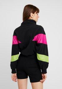 Fila - RAFIYA HALF ZIP - Bluza z polaru - black/pink yarrow/acid lime - 2