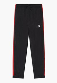 Nike Sportswear - WOVEN SET - Survêtement - black/university red/white - 2