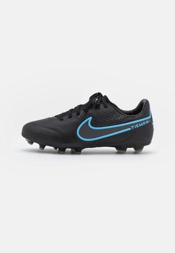 JR. TIEMPO LEGEND 9 PRO FG UNISEX - Moulded stud football boots - black/iron grey