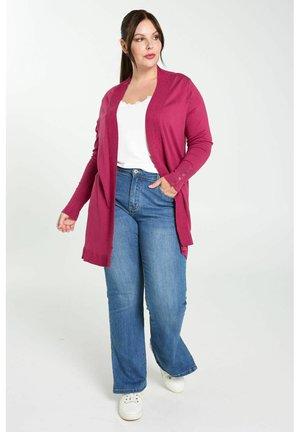 LONG OUVERT - Vest - raspberry