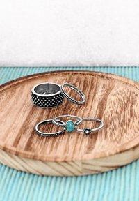 Lucardi - Ring - zilverkleurig/turquoise - 3