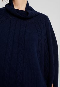 Benetton - MIX CABLE PONCHO - Cape - navy - 5